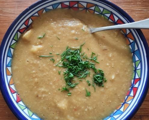 red lentil rutabaga soup